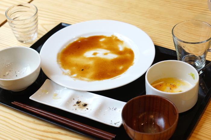 たまな食堂黒酢炒め