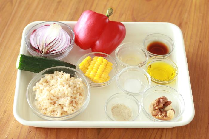 玄米サラダ02