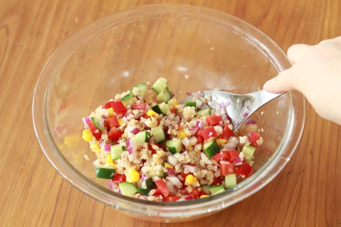 玄米サラダ05