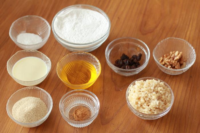 玄米スコーンレシピ材料