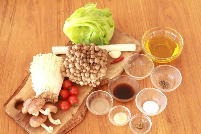 大豆ミートベジバーガー材料