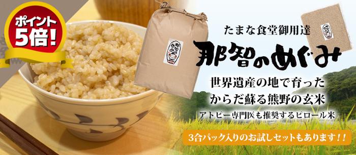 身体蘇る熊野の玄米那智のめぐみ